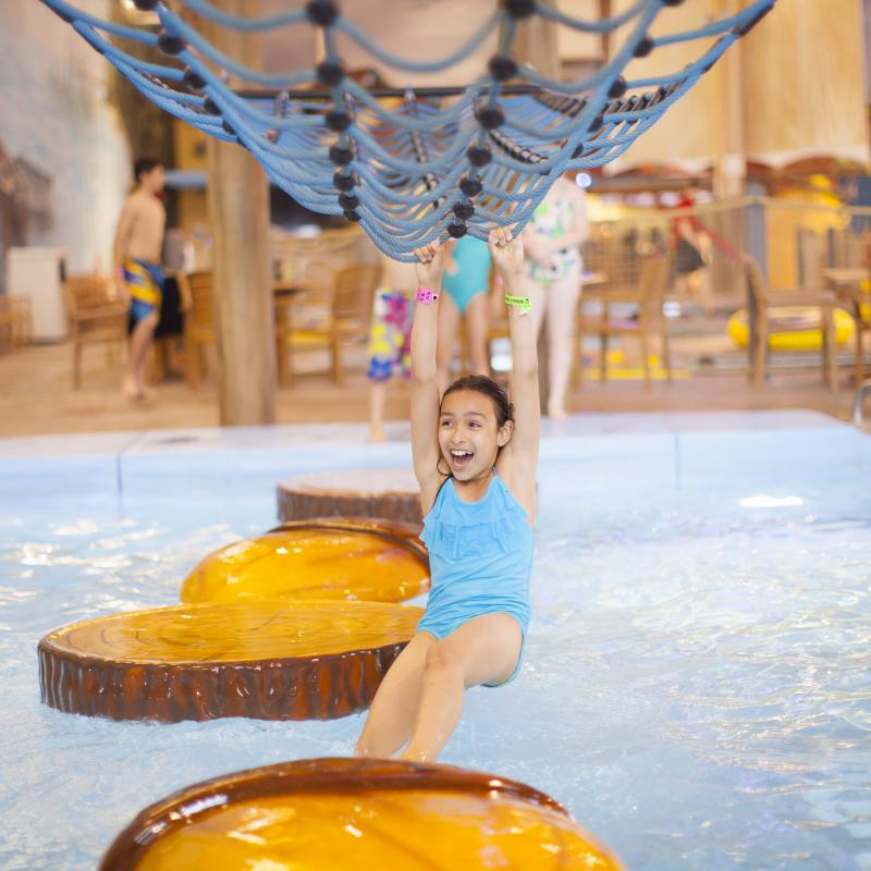 Girl at Great Wolf Lodge Waterpark in Bloomington
