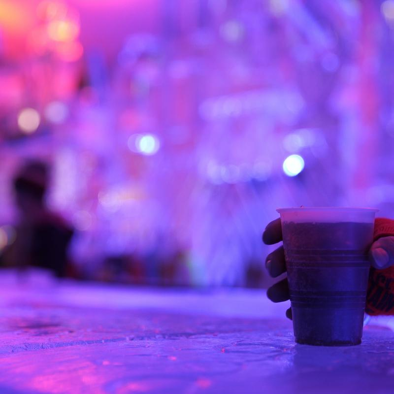 Ice bar at the International Eelpout Festival