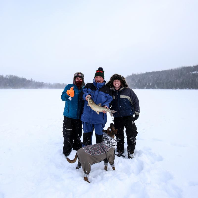 Ice fishing in the Superior National Forest