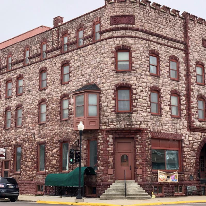 The castle like Calumet Inn Hotel in Pipestone
