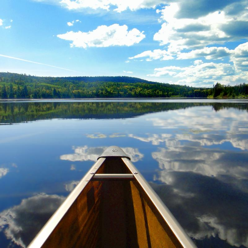A canoe in the Boundary Waters