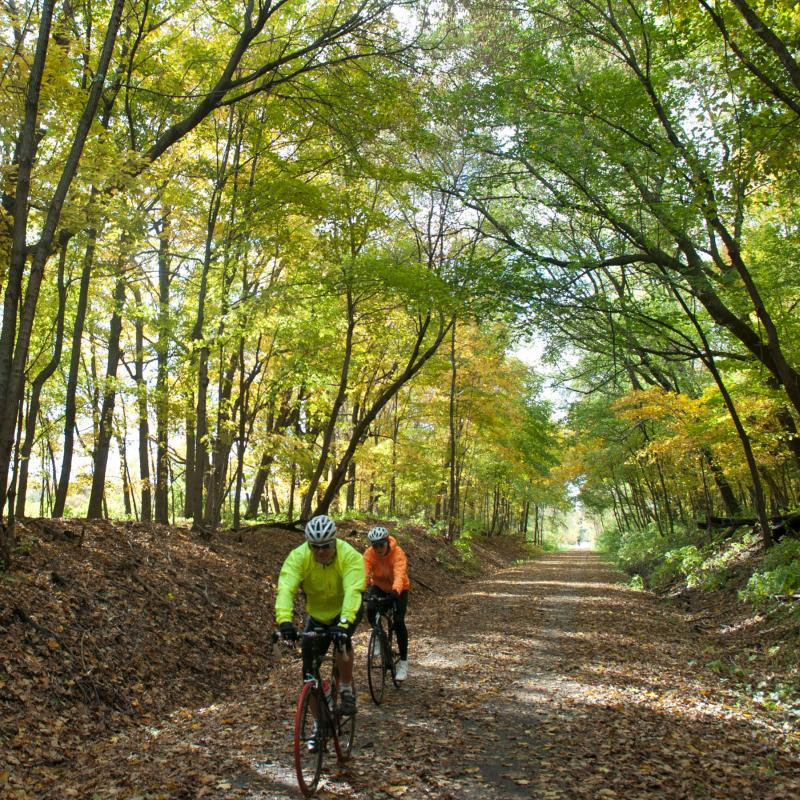 Dakota Rail Trail fall biking