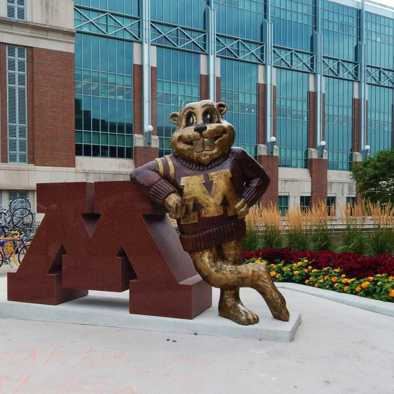 Goldy Gopher statue on campus at the University of Minnesota