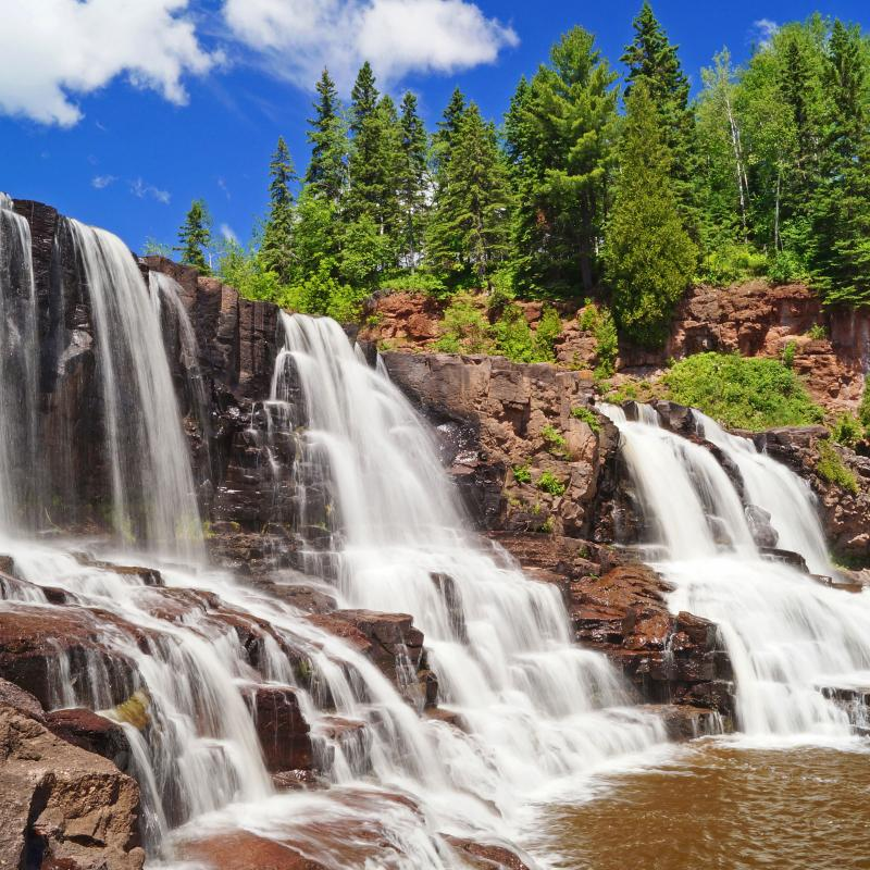 The middle falls at Gooseberry Falls State Park