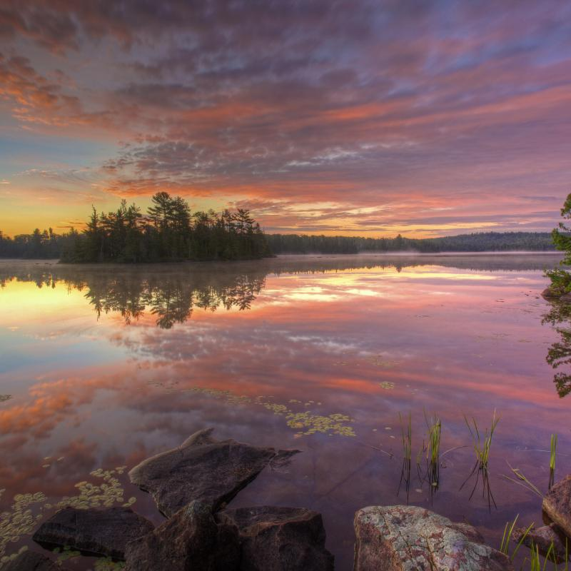 Sunrise over Grace Lake in the Boundary Waters