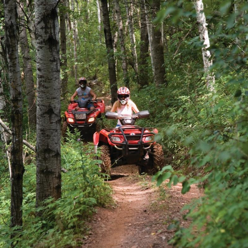 Two ATV riders in the Gilbert OHV area