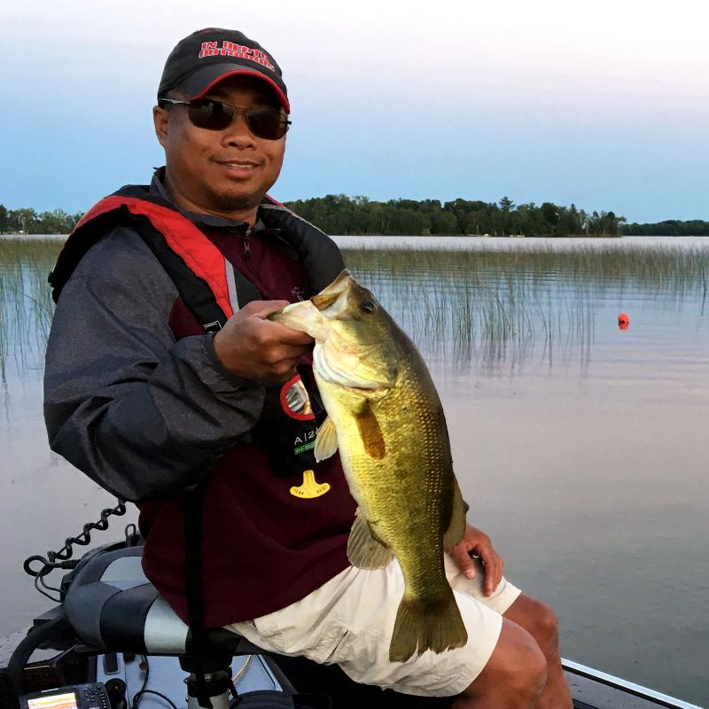 largemouth bass from pelican lake in crow wing county