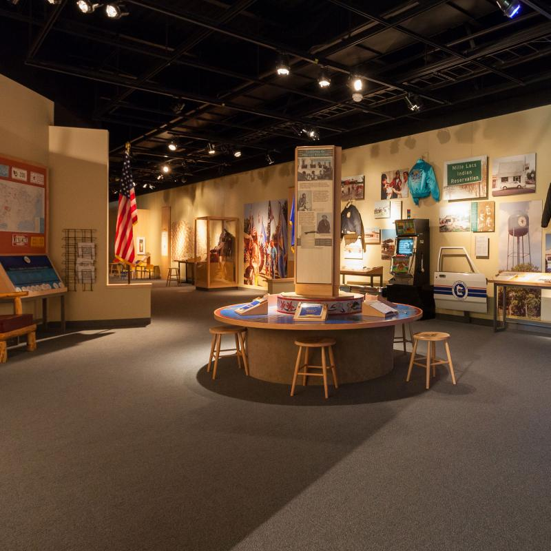 Mille Lacs Indian Museum exhibit