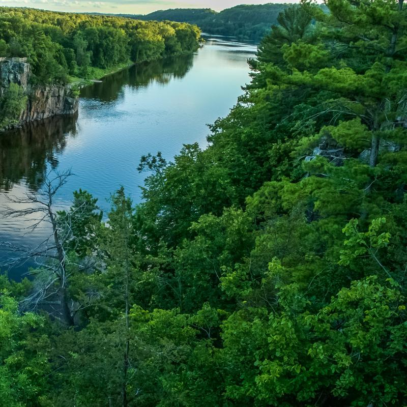 St. Croix River and surrounding area from Taylors Falls to Stillwater