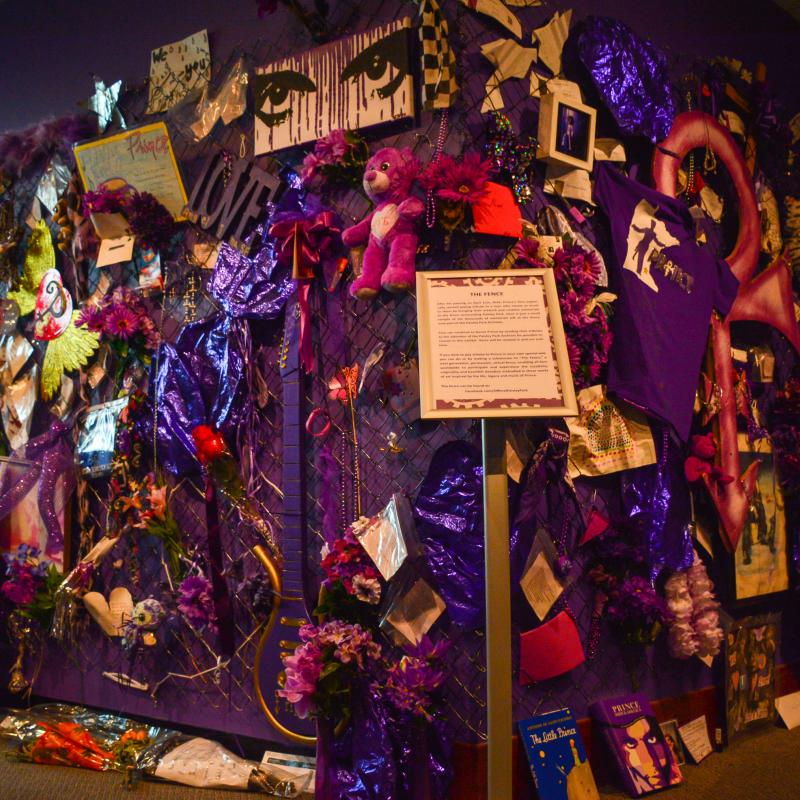 Memorial fence exhibit at Paisley Park