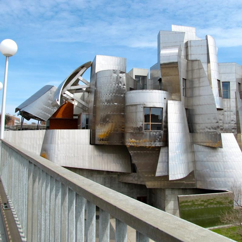 The Weisman Art Museum is a distinctive silver metal building in Minneapolis
