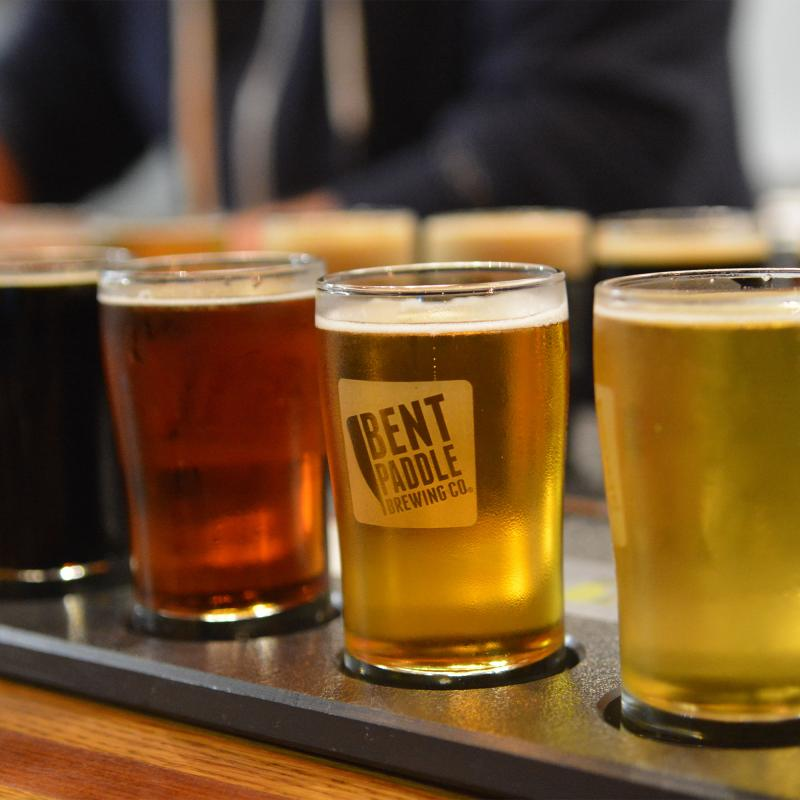 Bent Paddle Brewing beer flight Duluth