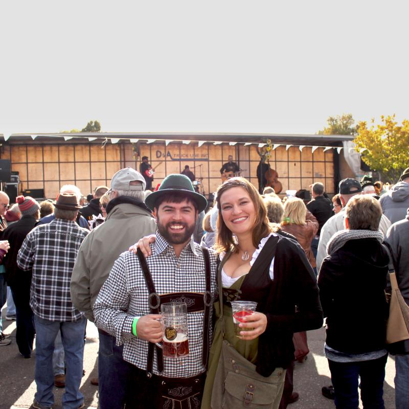 Couple at New Ulm Oktoberfest