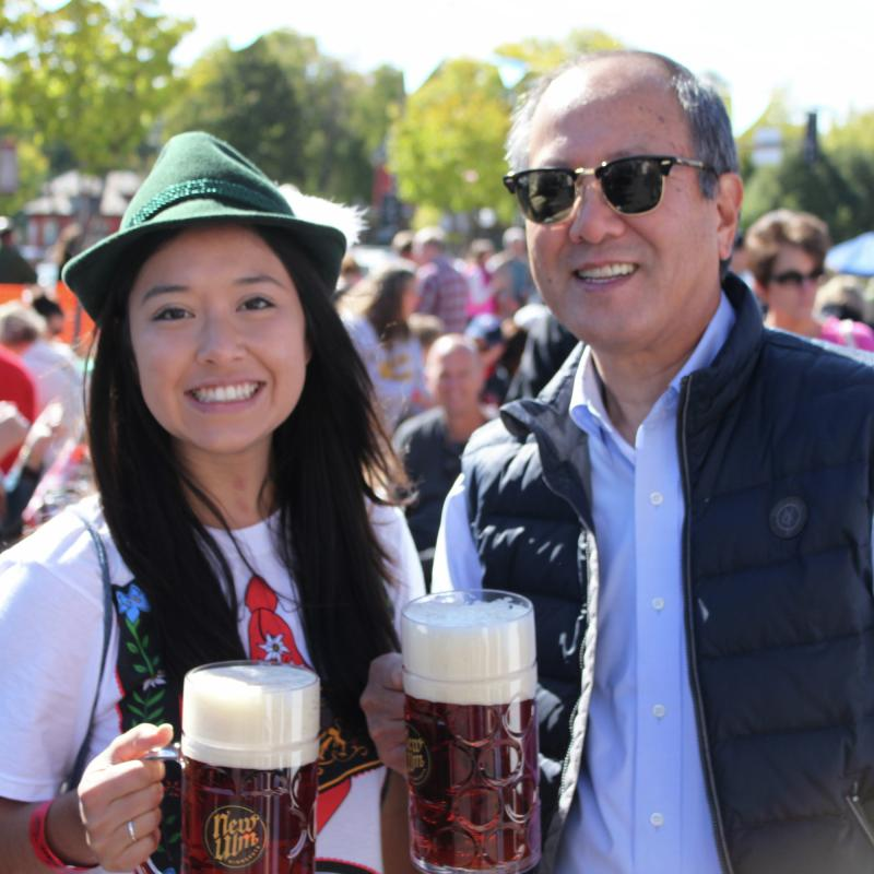 Father and daughter at Oktoberfest