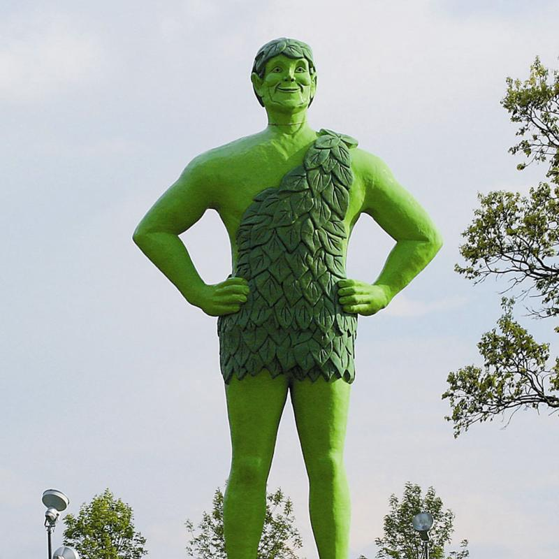 The Jolly Green Giant in Blue Earth