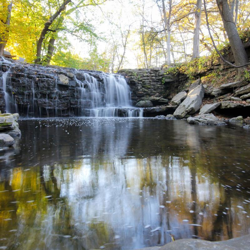 Minneopa Falls fall colors