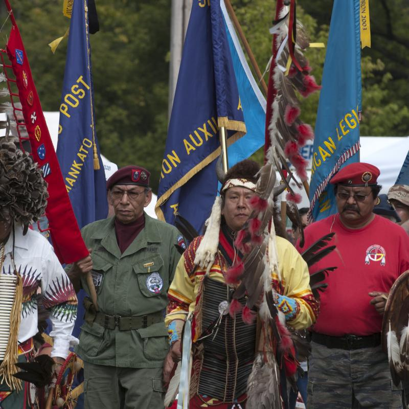 Veterans and elders receive special honors at Pow Wow