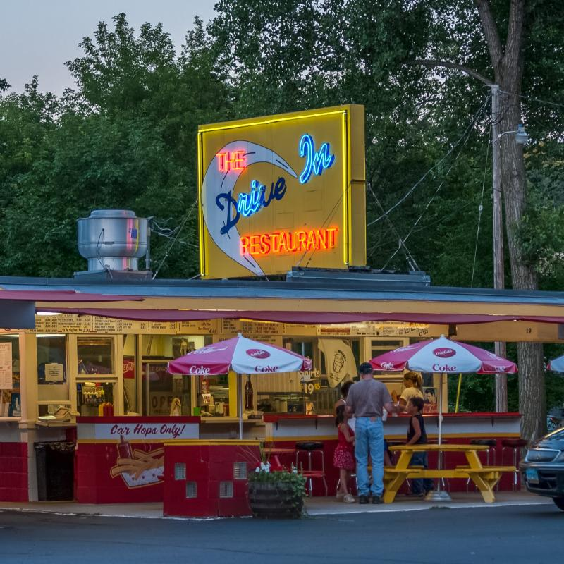 The Drive In restaurant in Taylors Falls