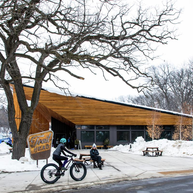 Trailhead Center at Theo Wirth Park in Winter