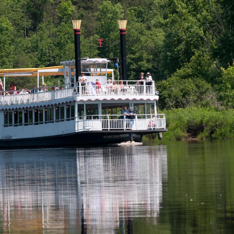 Tour boat on the Saint Croix River at Interstate State Park in Taylors Falls.jpg