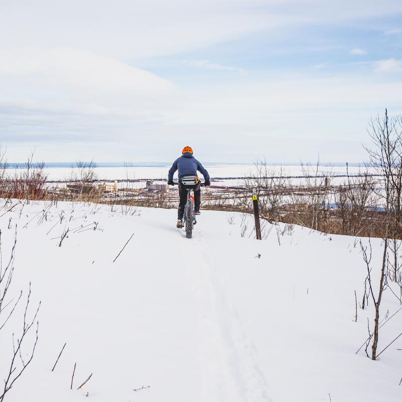 Winter fat biking in Duluth