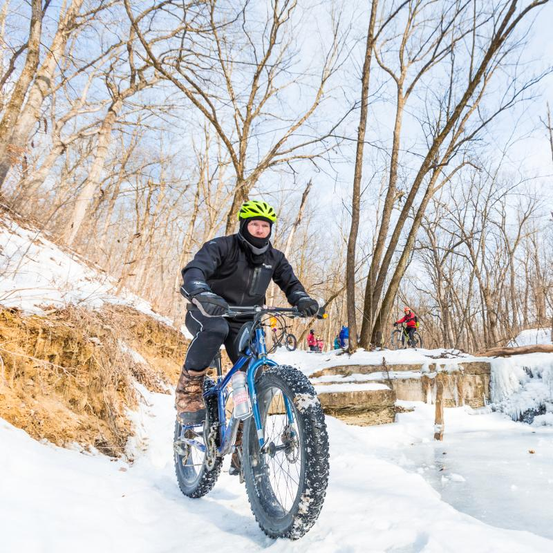 Winter fat biking Northfield