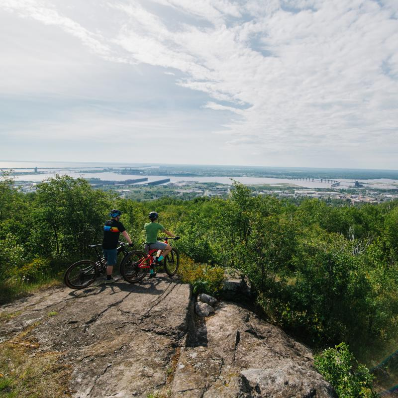 Scenic overlook of Duluth from Piedmont trails