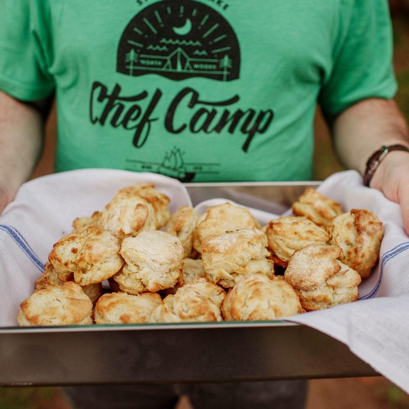 Learning vacations Chef Camp biscuits