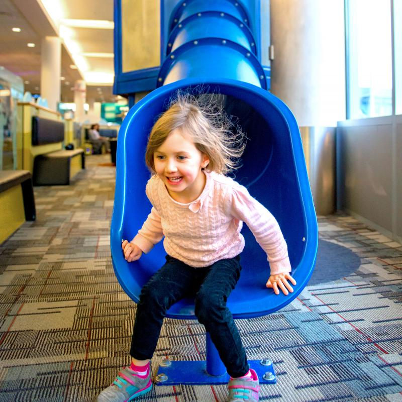 MSP Airport play area slide