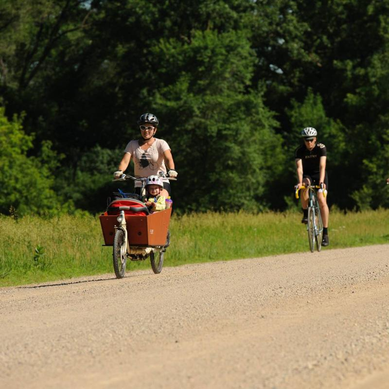 Riders in the RiotGrrravel bike race