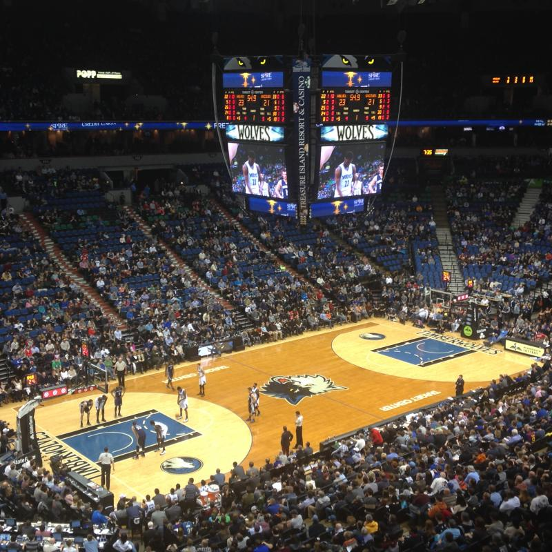Minnesota Timberwolves basketball game at Target Center