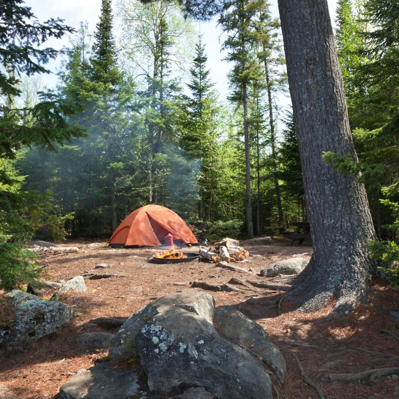 Tent camping in northern Minnesota