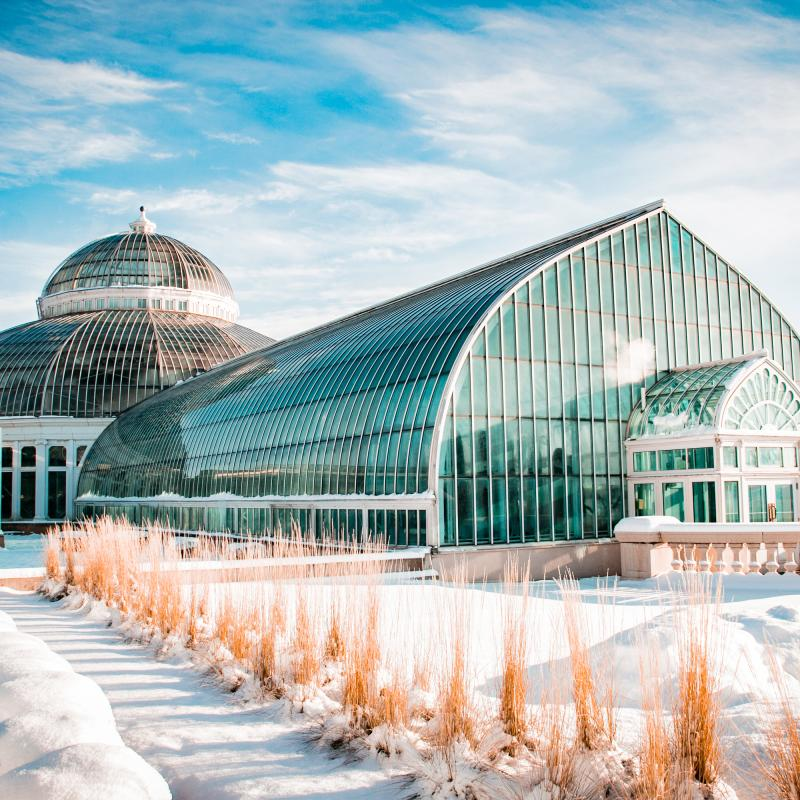 Como Conservatory in winter